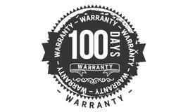 100 days warranty design classic,best black stamp. 100 days warranty design,best black stamp illustration stock illustration