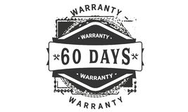 60 days warranty design classic,best black stamp. 60 days warranty design,best black stamp illustration stock illustration