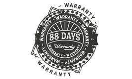 88 days warranty design vintage,best stamp collection. 88 days warranty design,best black stamp illustration stock illustration