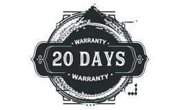 20 days warranty design vintage,best stamp collection. 20 days warranty design,best black stamp illustration royalty free illustration