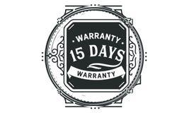 15 days warranty design vintage,best stamp collection. 15 days warranty design,best black stamp illustration royalty free illustration