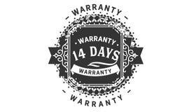 14 days warranty design vintage,best stamp collection. 14 days warranty design,best black stamp illustration stock illustration