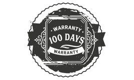 100 days warranty design vintage,best stamp collection. 100 days warranty design,best black stamp illustration royalty free illustration