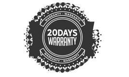 20 days warranty design vintage,best stamp collection. 20 days warranty design,best black stamp illustration vector illustration