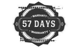 57 days warranty design vintage,best stamp collection. 57 days warranty design,best black stamp illustration royalty free illustration