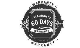 60 days warranty design vintage,best stamp collection. 60 days warranty design,best black stamp illustration royalty free illustration