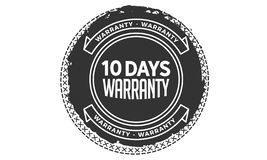 10 days warranty design vintage,best stamp collection. 10 days warranty design,best black stamp illustration royalty free illustration