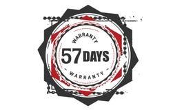 57 days warranty design classic,best black stamp. 57 days warranty design,best black stamp illustration stock illustration