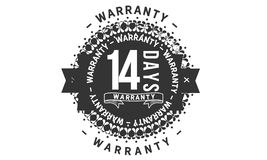 14 days warranty design classic,best black stamp. 14 days warranty design,best black stamp illustration vector illustration