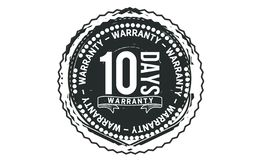 10 days warranty design classic,best black stamp. 10 days warranty design,best black stamp illustration vector illustration