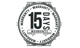 15 days warranty design classic,best black stamp. 15 days warranty design,best black stamp illustration stock illustration