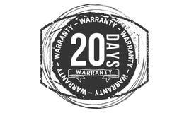 20 days warranty design classic,best black stamp. 20 days warranty design,best black stamp illustration vector illustration