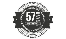 57 days warranty design classic,best black stamp. 57 days warranty design,best black stamp illustration royalty free illustration