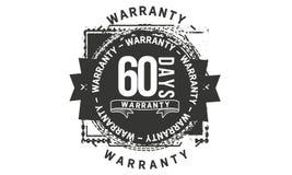 60 days warranty design classic,best black stamp. 60 days warranty design,best black stamp illustration royalty free illustration