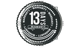 13 days warranty design classic,best black stamp. 13 days warranty design,best black stamp illustration royalty free illustration