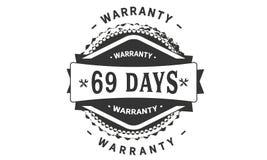 69 days warranty design classic,best black stamp. 69 days warranty design,best black stamp illustration vector illustration