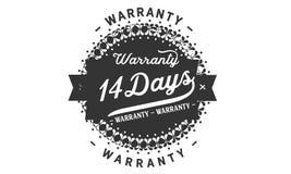14 days warranty design stamp. Badge icon vector illustration