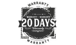 20 days warranty design stamp. Badge icon royalty free illustration