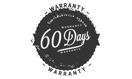 60 days warranty design stamp. Badge icon vector illustration