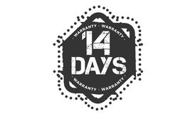 14 days warranty design,best black stamp. 14 days warranty design stamp badge icon royalty free illustration