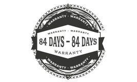 84 days warranty design,best black stamp. 84 days warranty design stamp badge icon royalty free illustration