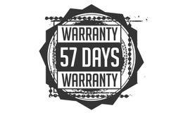 57 days warranty design,best black stamp. 57 days warranty design stamp badge icon stock illustration