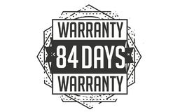84 days warranty design,best black stamp. 84 days warranty design stamp badge icon vector illustration