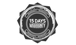 15 days warranty design,best black stamp. 15 days warranty design stamp badge icon royalty free illustration