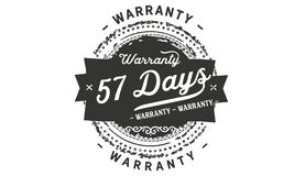 57 days warranty design stamp. Badge icon vector illustration