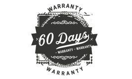 60 days warranty design stamp. Badge icon royalty free illustration