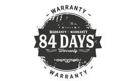 84 days warranty design stamp. Badge icon vector illustration