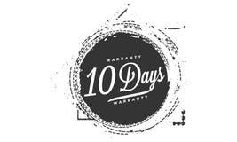 10 days warranty design stamp. Badge icon vector illustration