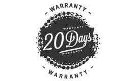 20 days warranty design stamp. Badge icon vector illustration