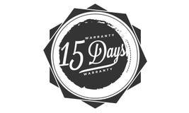 15 days warranty design stamp. Badge icon stock illustration