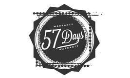 57 days warranty design stamp. Badge icon stock illustration