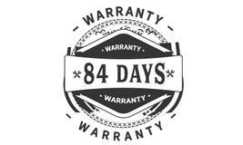 84 days warranty design vintage,best black stamp. 84 days warranty design,best black stamp illustration royalty free illustration