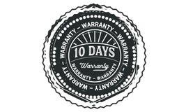 10 days warranty design vintage,best stamp collection. 10 days warranty design,best black stamp illustration vector illustration