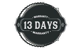 13 days warranty design vintage,best stamp collection. 13 days warranty design,best black stamp illustration vector illustration