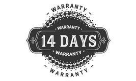 14 days warranty design vintage,best stamp collection. 14 days warranty design,best black stamp illustration royalty free illustration