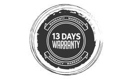 13 days warranty design vintage,best stamp collection. 13 days warranty design,best black stamp illustration stock illustration