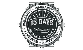 15 days warranty design vintage,best stamp collection. 15 days warranty design,best black stamp illustration stock illustration