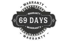 69 days warranty design vintage,best stamp collection. 69 days warranty design,best black stamp illustration royalty free illustration