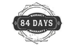 84 days warranty design vintage,best stamp collection. 84 days warranty design,best black stamp illustration royalty free illustration