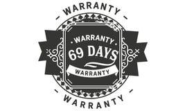 69 days warranty design vintage,best stamp collection. 69 days warranty design,best black stamp illustration stock illustration