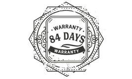 84 days warranty design vintage,best stamp collection. 84 days warranty design,best black stamp illustration stock illustration