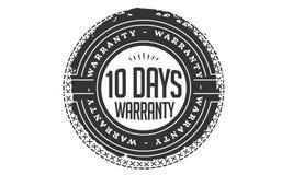 10 days warranty design vintage,best stamp collection. 10 days warranty design,best black stamp illustration stock illustration