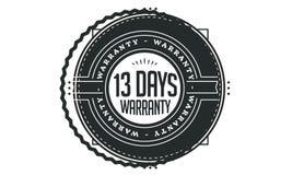 13 days warranty design vintage,best stamp collection. 13 days warranty design,best black stamp illustration royalty free illustration