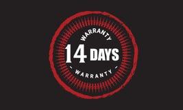14 days warranty grunge illustration design. Stamp badge icon stock illustration