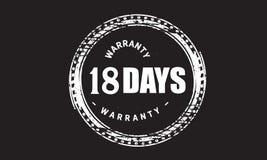 18 days warranty grunge illustration design. Stamp badge icon stock illustration