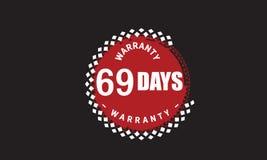 69 days warranty grunge illustration design. Stamp badge icon stock illustration